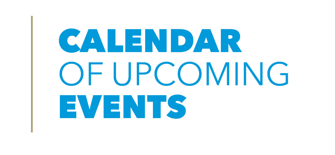 Calendar of Upcoming Events