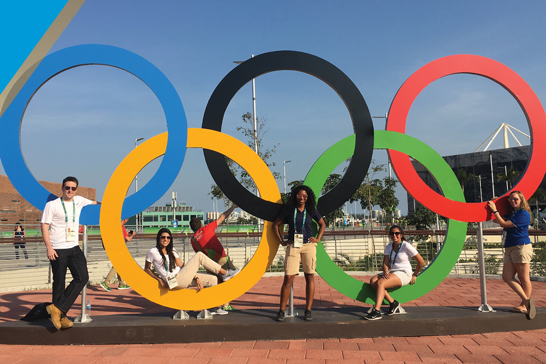 photo - GWSB students at the Summer Olympics in Rio
