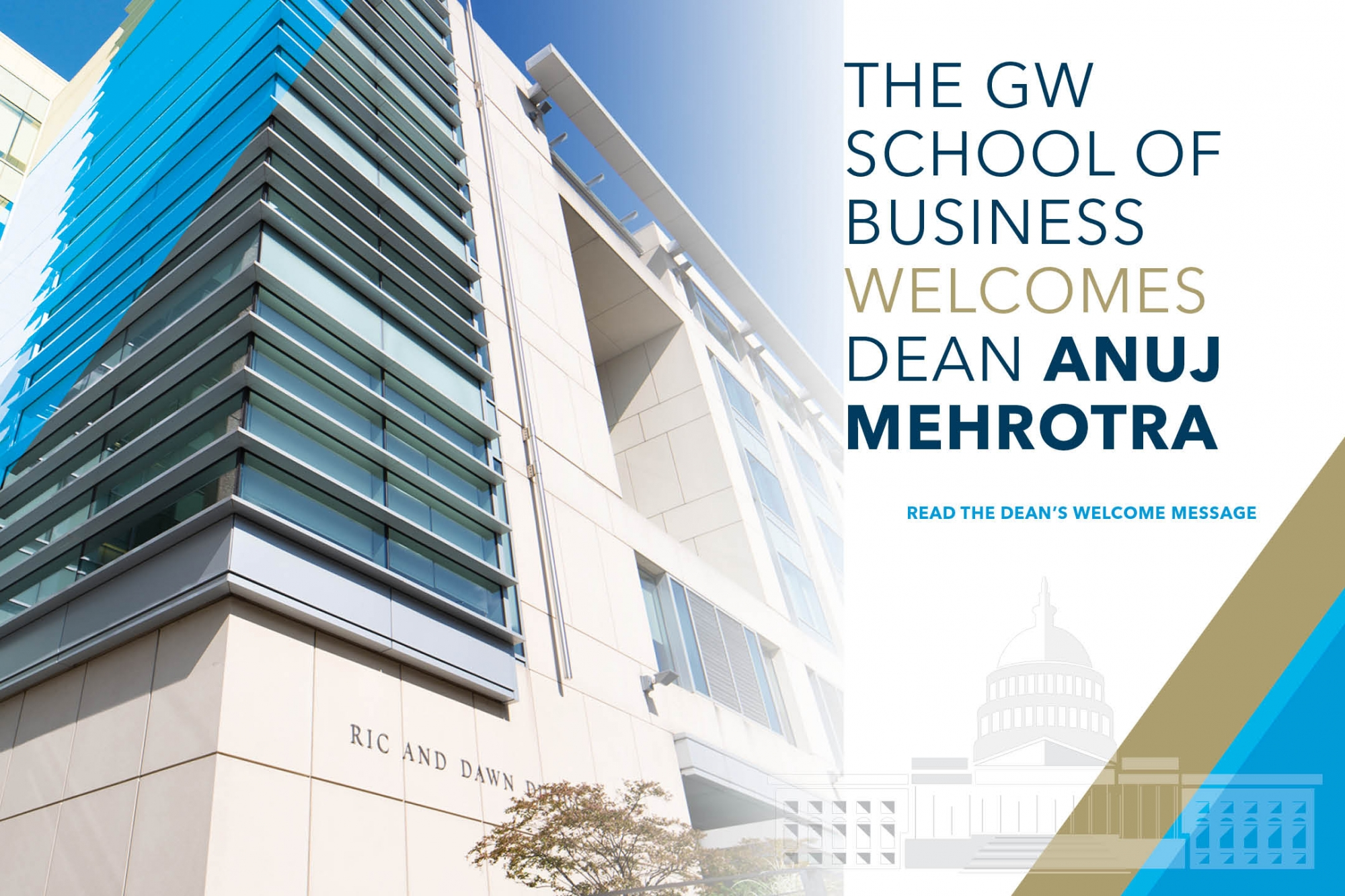 photo - The GW School of Business Welcomes Dean Anuj Mehrotra