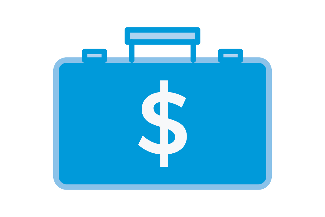graphic depicting a briefcase with a dollar sign