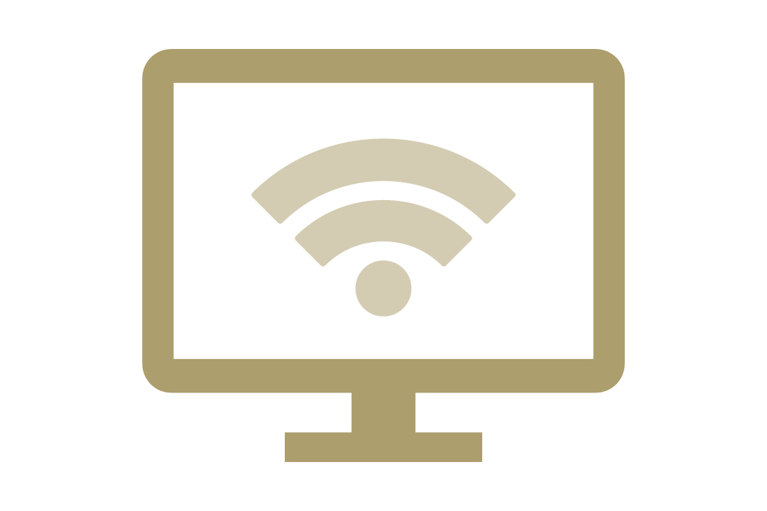 graphic depicting a computer with the wifi logo