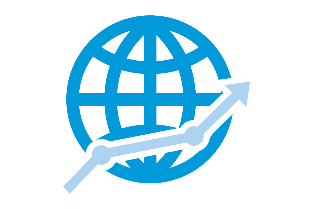 graphic depicting a globe
