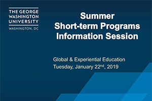 image - watch the video of the latest G&EE Short-Term Programs Info Session