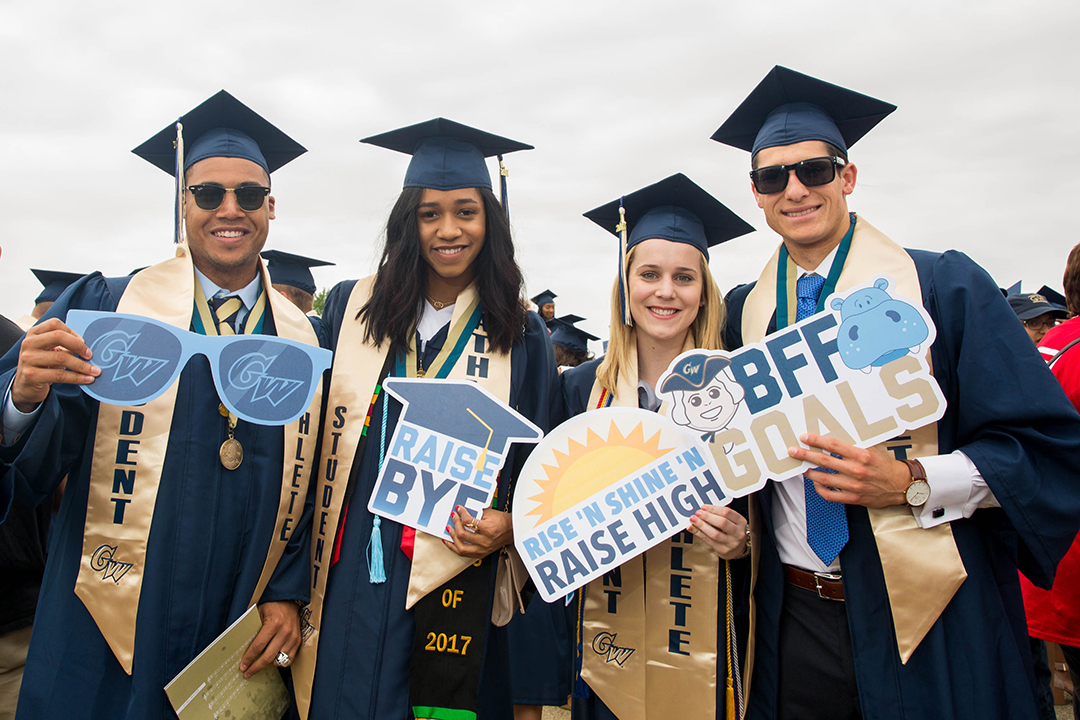 GWSB graduates celebrate commencement on the National Mall