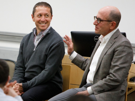 photo - Ken Rosenthal at GWSB with Mark Hyman