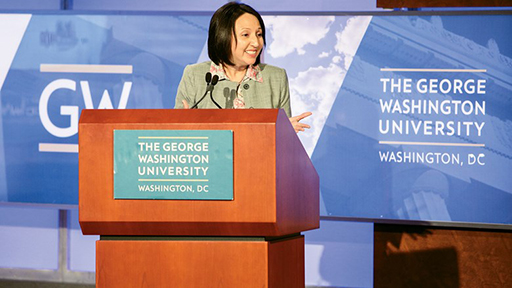photo - GWSB IITS Director Seleni Matus hosting overtourism event