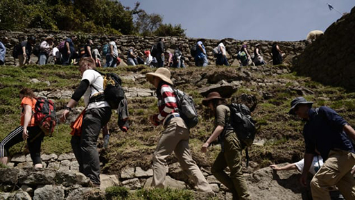 photo - overtourism at Machhu Picchu