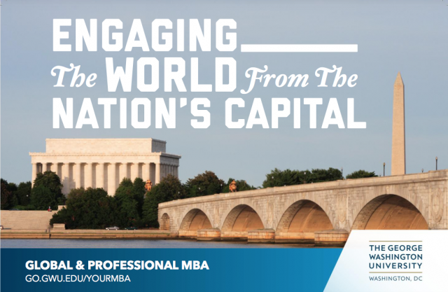 cover image - GWSB Global & Professional MBA program brochure
