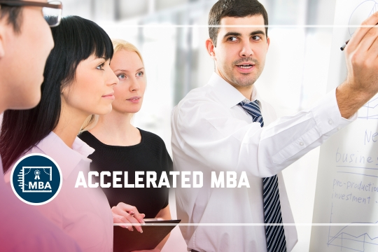 header graphic - The Accelerated MBA program at the GW School of Business