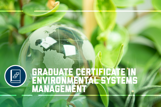 header image - the Graduate Certificate in Environmental Systems Management program at the GW School of Business