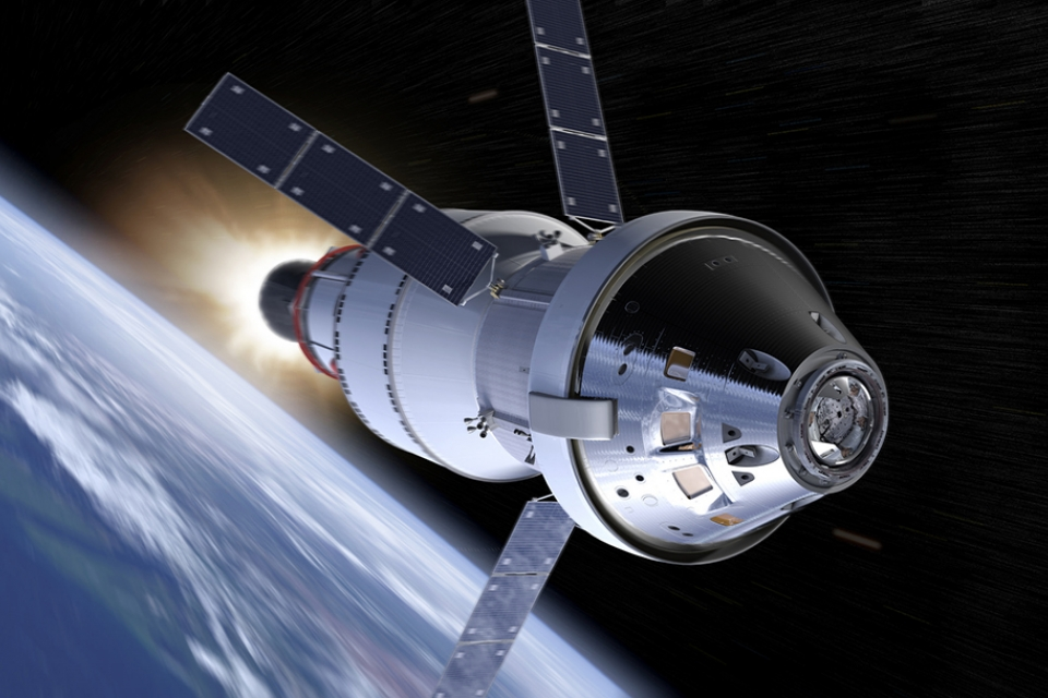 image - a NASA rendering of the Orion spacecraft