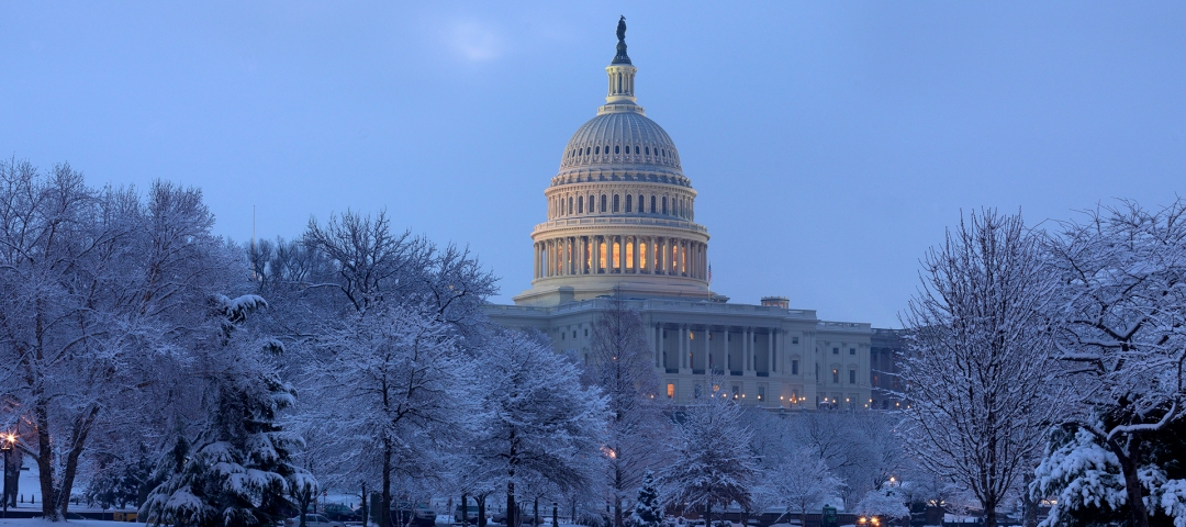 photo - The U.S. Capitol Building in winter - Architect of the Capitol