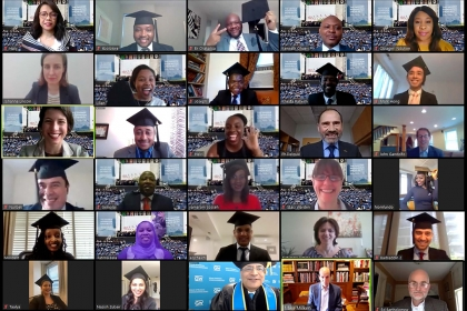photo - screenshot of Capital Markets virtual commencement celebration