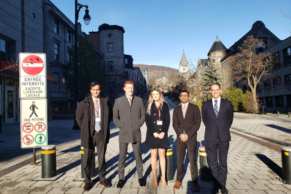 photo - The GWSB McGill Competition team