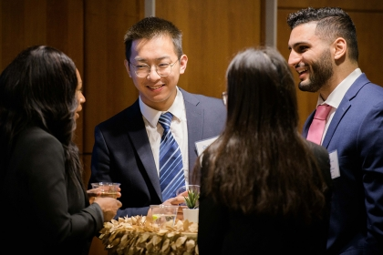 GWSB graduate students at an Industry Roundtable event in January 2020